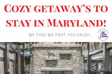 8 Winter Lodges & Cozy getaway's to stay in Maryland!
