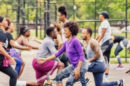 Giving back to the Community: Three college friends created a nonprofit fitness movement that includes local social events.